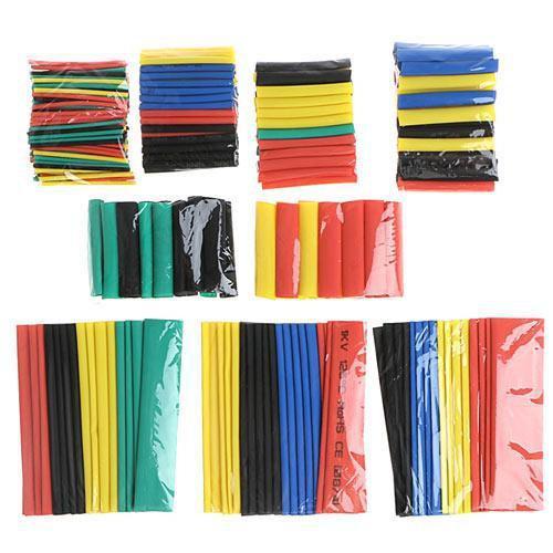 Трубки термоусадочные цветные(набор 328 штук)