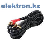 Шнур 3RCA – 3RCA, 10м кабель аудио,видео,компьютерный купить в Нур-Султан