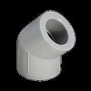 Отвод ППР 45° серый 25 Jakko