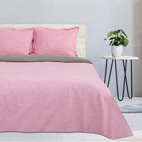 Постельное бельё 'Этель' евро Розовый рассвет, размер 200х217 см, 220х240 см, наволочка трансформер 70х70 (50х70 см) - 2 шт., поплин 125 г/м2