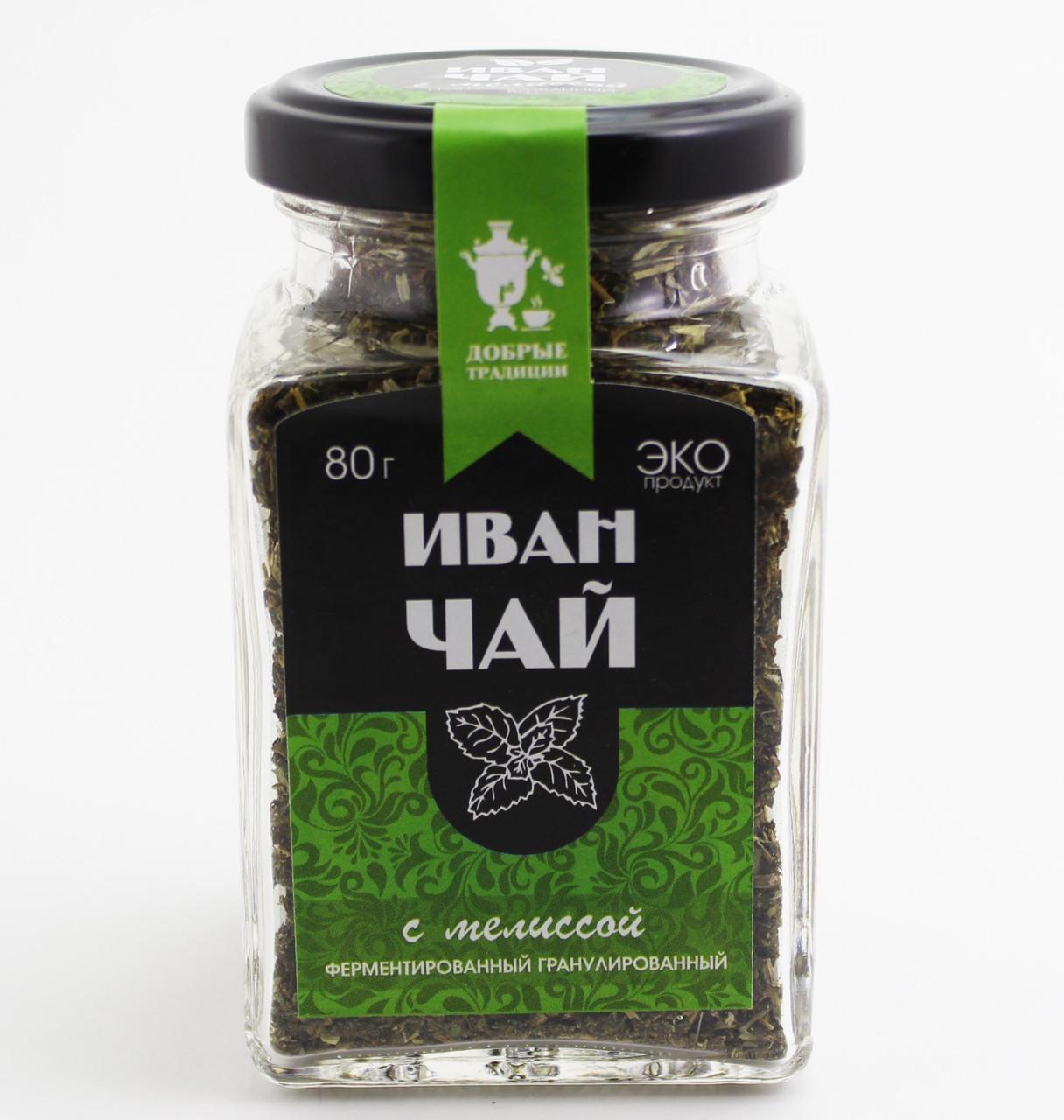 Иван-чай гран.с мелиссой, банка, 80 г