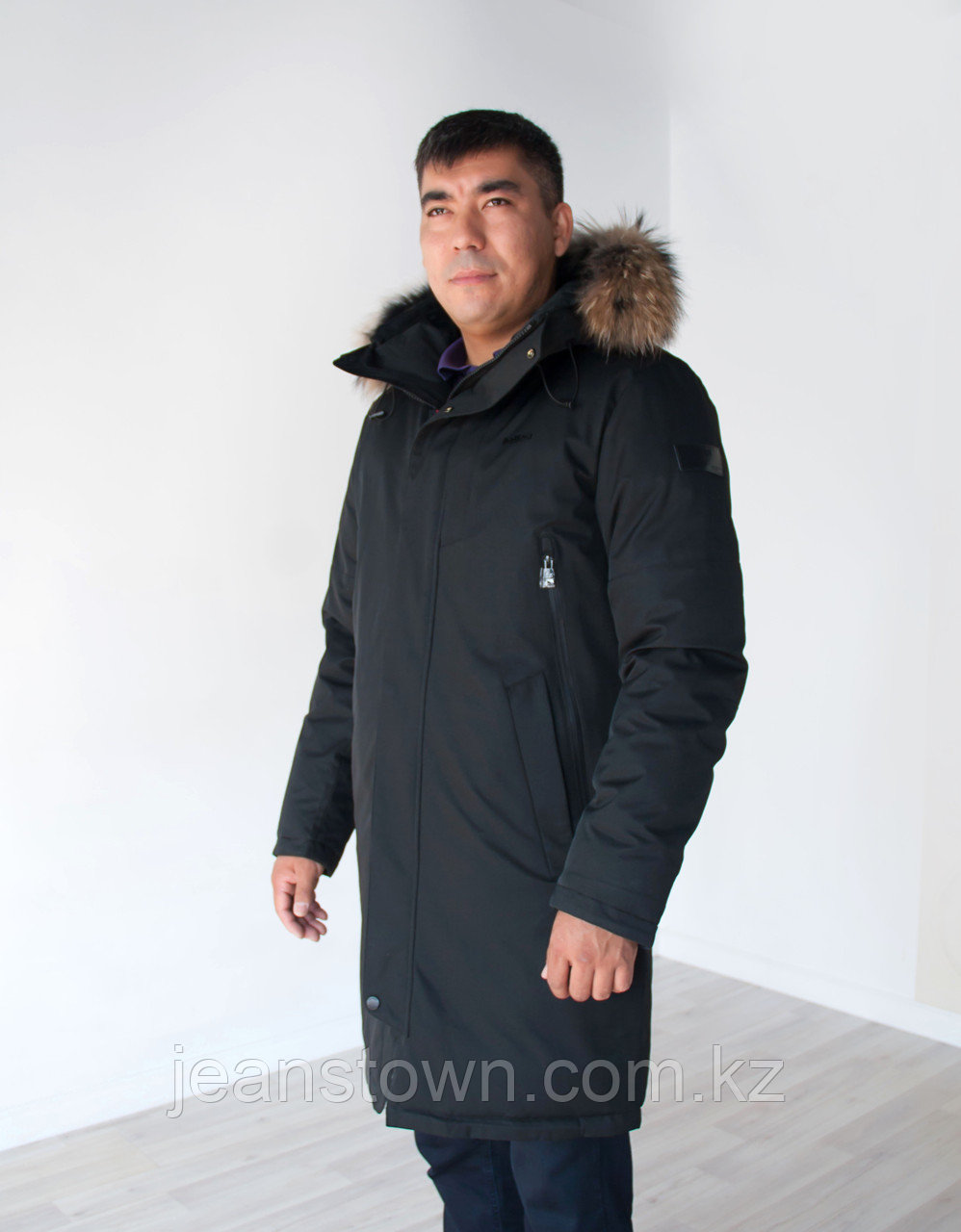 Куртка мужская зимняя Shark Force длинная,черная