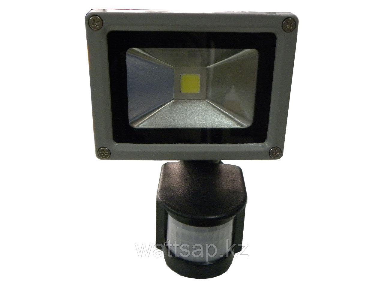 Прожектор светодиодный 10 Вт с датчиком движения