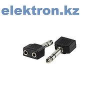 Переходник П-6 (6,35 mm stereo pluq - 2xRCA jack) кабель аудио,видео,компьютерный купить