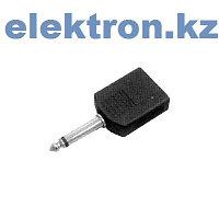 Переходник П-1 (6,35 mm mono pluq — 2x6,35 mm mono jacks)кабель аудио,видео,компьютерный купить