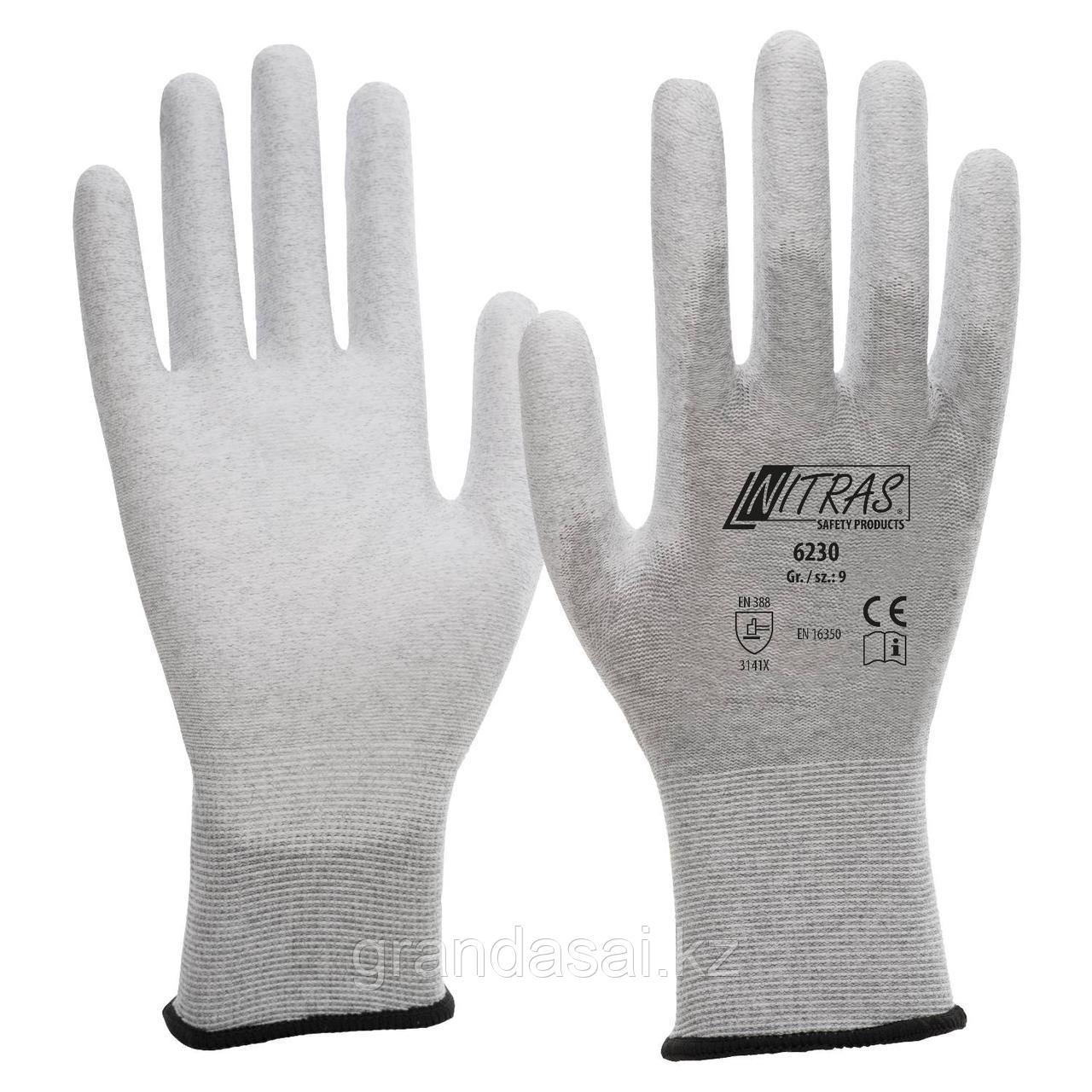 Антистатические перчатки NITRAS