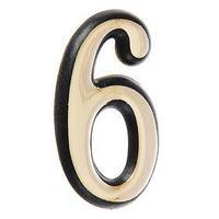 Цифра дверная '6' 'АЛЛЮР' , большая, пластик, цвет золото