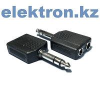 Переходник П-7 (6,35 mm stereo pluq — 2x6.35 mm mono jacks) кабель аудио,видео,компьютерный купить