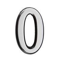Цифра дверная '0', малая, пластик, самоклеящаяся, цвет хром (комплект из 20 шт.)