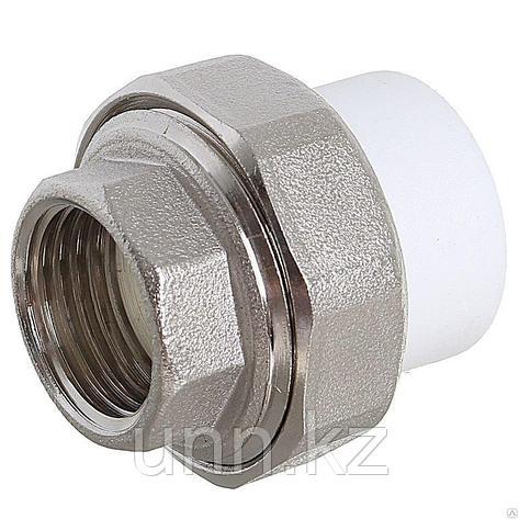Муфта разъемная ППР ЭКО с вн. рез. серый 25х1/2 Jakko, фото 2