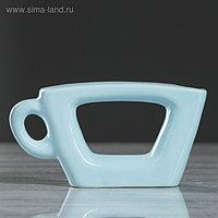 """Ваза настольная """"Чашка"""", голубой цвет, 7 см, керамика"""