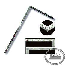 Угольник плоский Shinwa, фигурный профиль, 500*250мм