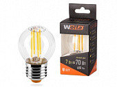 Лампа LED  WOLTA FILAMENT  G45 7Вт 730лм E27 4000K 1/10/50