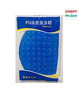 Шапочка для плавания PU SWIMMING CAP (цвет синий, вид №2)