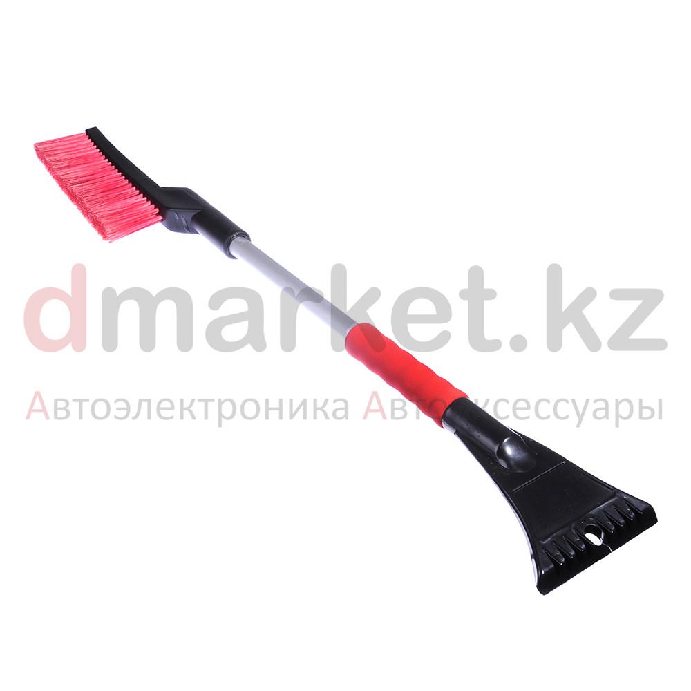 Щетка для уборки снега DM-900, удобная ручка, скребок, длина 90 см