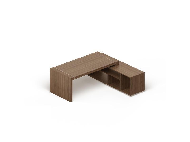 Стол с опорной тумбой с нишами GDB CPRET200 Capital Орех