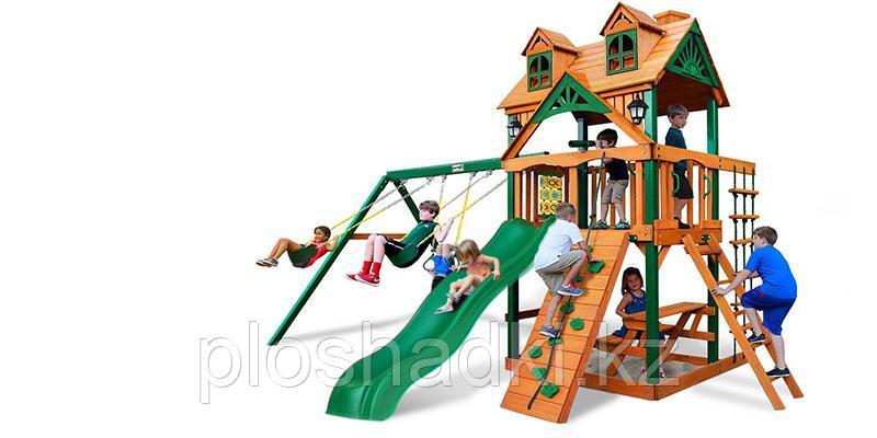 """Детская площадка """"Заря Ривьера"""", качели, скалодром, горка, игрровой домик, крыша"""