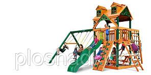 """Детская площадка """"Заря Ривьера с Рукоходом"""", большая крыша, качели, рукоход, горка"""