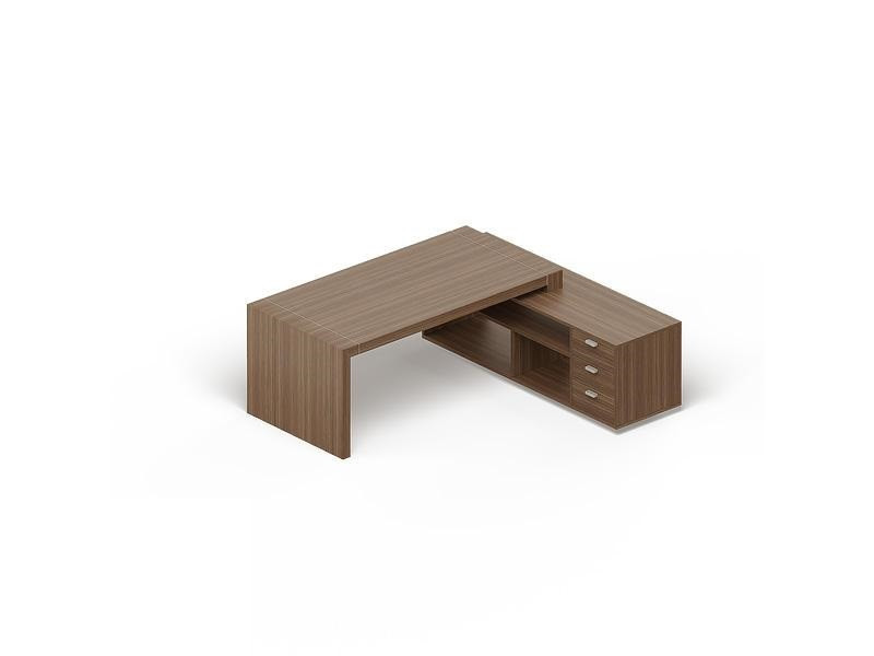 Стол с опорной тумбой с нишами и ящиками GDB CPRETBH200 Capital Орех