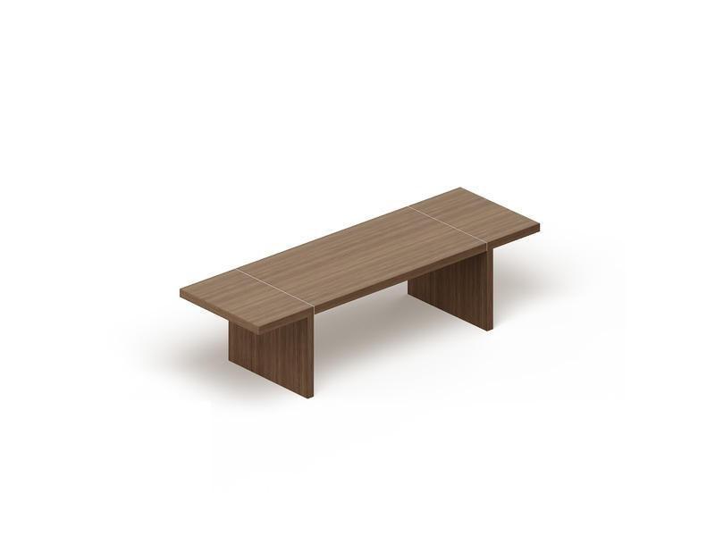 Стол для совещаний прямоугольный (опоры панели) GDB CP2921 Capital Венге