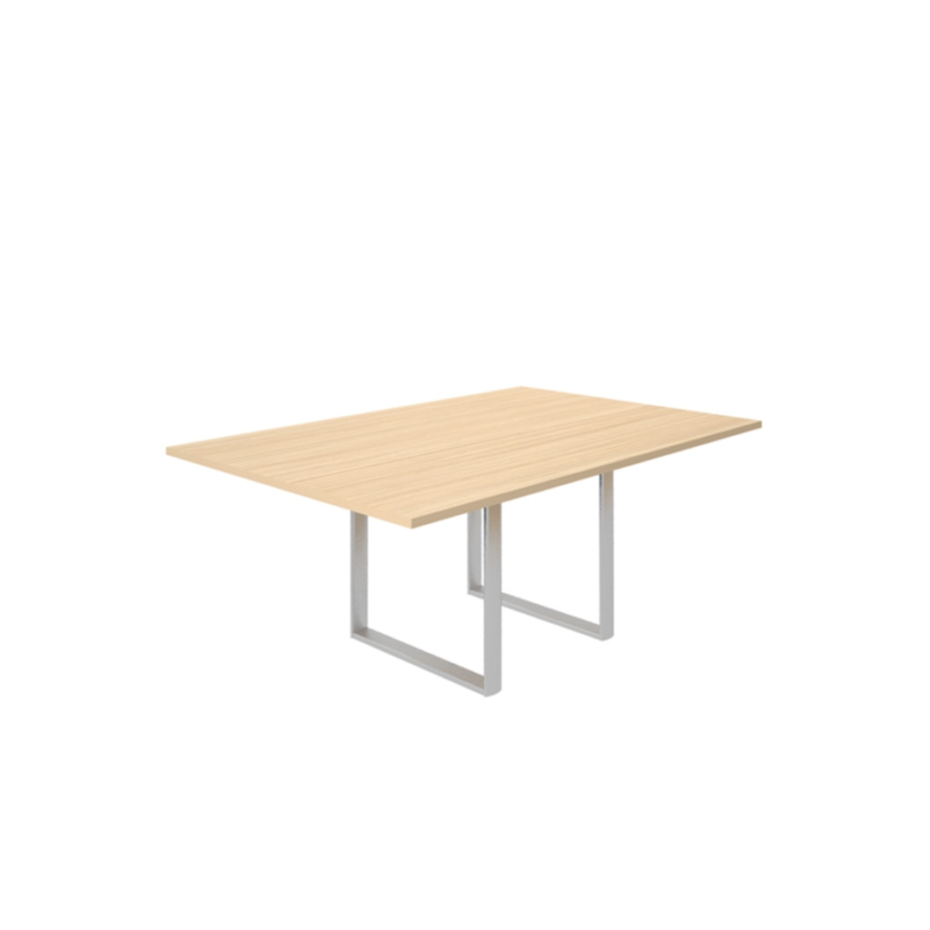 Стол для совещаний CARRE 180х120х72см меламин Акация Аури