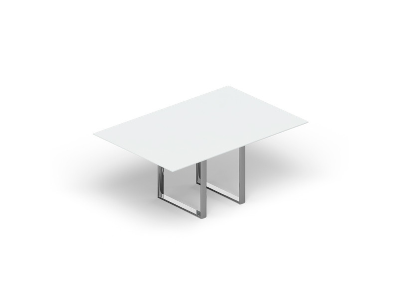 Стол для совещаний CARRE 180х120х72см стекло