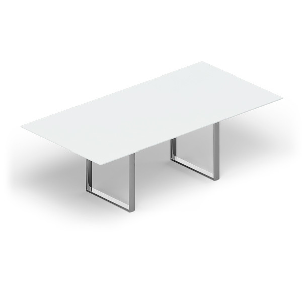 Стол для совещаний CARRE 240х120х72см меламин Белый