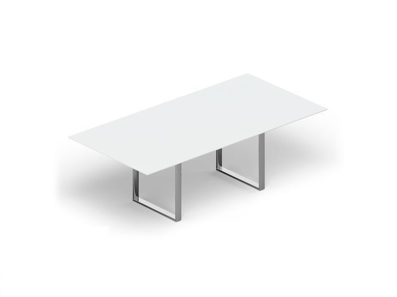 Стол для совещаний CARRE 240х120х72см стекло