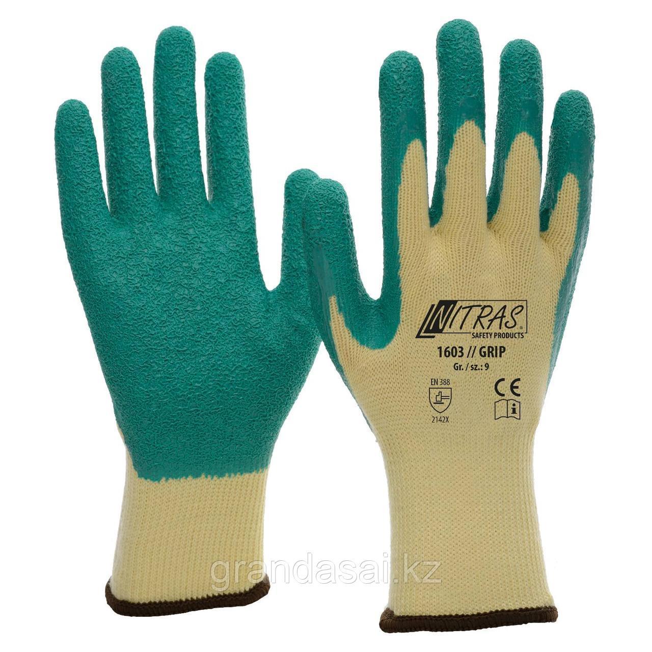 Латексные перчатки NITRAS GRIP