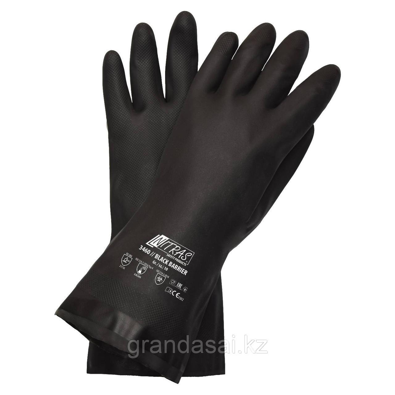 Химостойкие перчатки NITRAS BLACK BARRIER