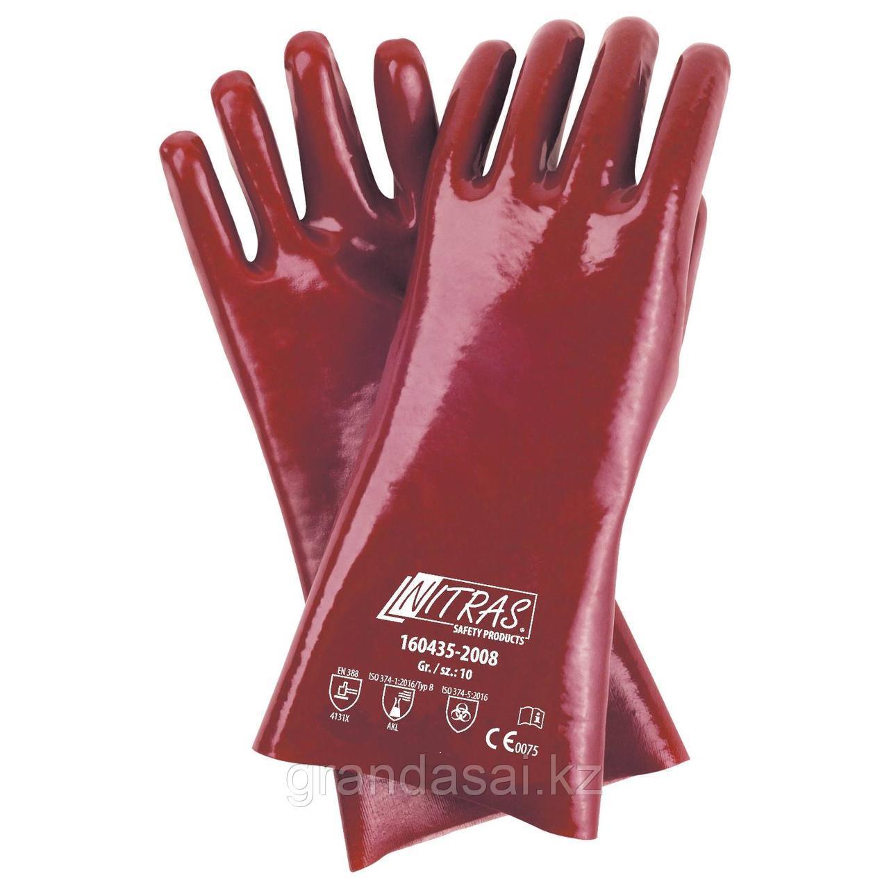 Перчатки из ПВХ NITRAS