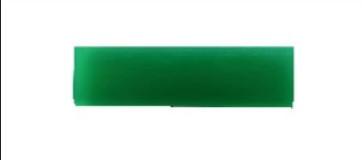 Полиуретановый ракель полужесткий зеленый, 110*50*6 мм.