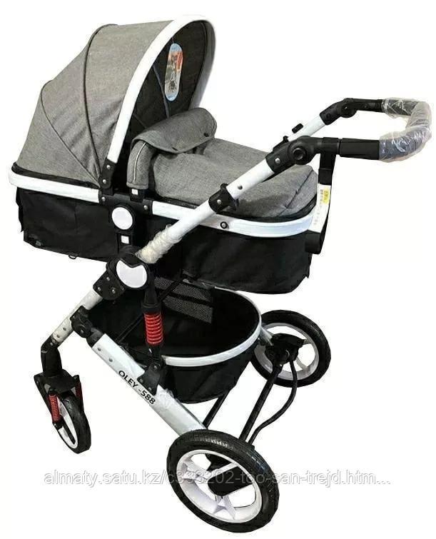 Детская коляска 2в1 Oley(серый)