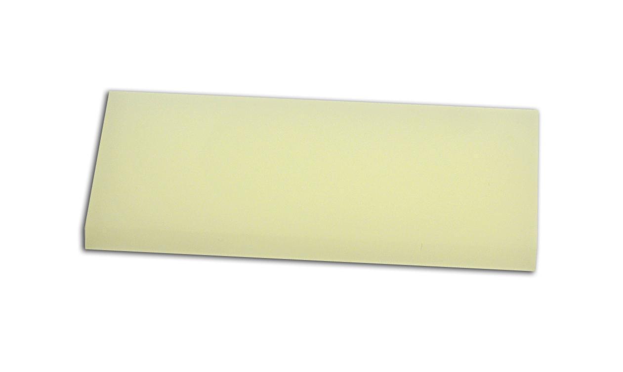 Полиуретановый ракель мягкий белый, 110*50*7 мм.