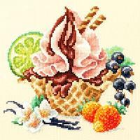 """Набор для вышивания крестом """"Ванильное мороженое"""""""