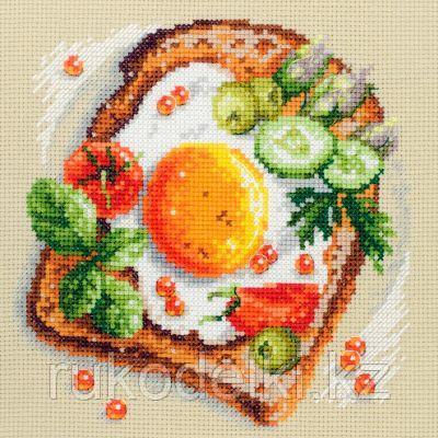 """Набор для вышивания крестом """"Тост с яичницей"""""""