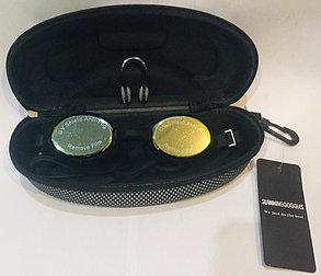 Очки для плавания GF-SPORT (с затычками для ушей и носа, цвет черный), фото 2