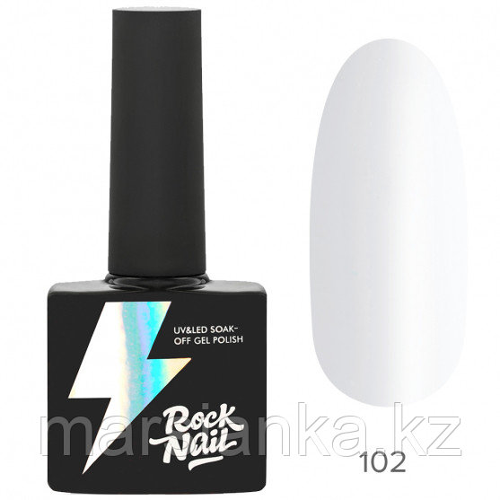 Гель-лак RockNail Basic #102 Ultra White, 10мл