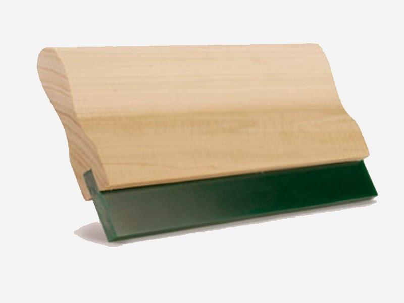 Деревянный ракель с мягкой полиуретановой насадкой, 140 мм