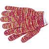 Перчатки трикотанжные усиленные, красно-желтый меланж,гелевое ПВХ-покрытие, 7 класс,Россия Сибртех, 68181