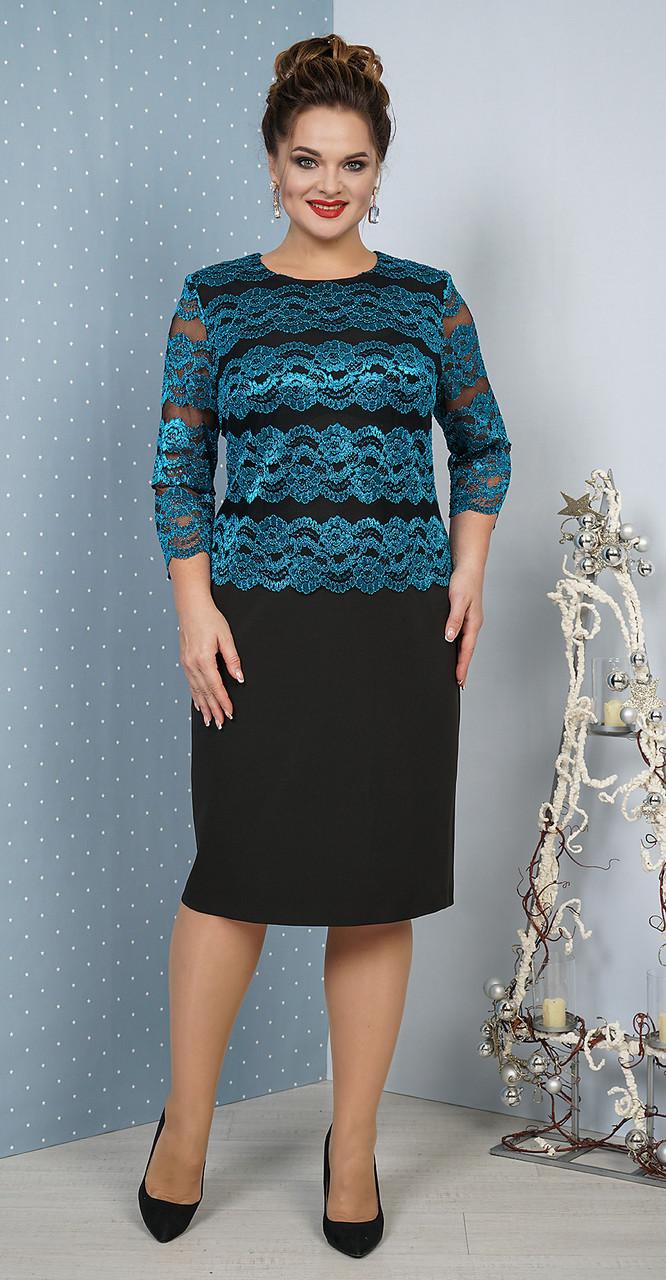 Платье Alani-1021, бирюза, 56