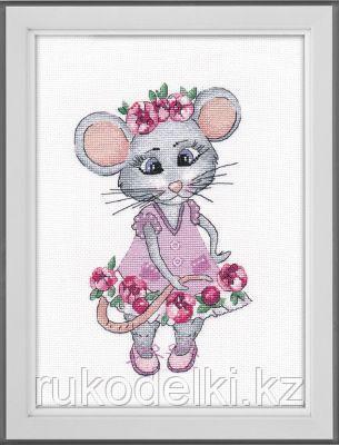 """Набор для вышивания крестом """"Мышка-вертихвостка"""""""