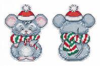 """Набор для вышивания крестом """"Елочная игрушка. Мышонок"""""""