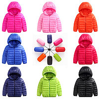 Осенняя куртка на пуху от 5 до 13 лет для мальчиков и девочек., фото 1