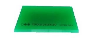 Гибкий зеленый ракель V-образный, 110*50*7 мм