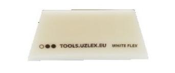 Гибкий белый ракель V-образный, 110*50*7 мм