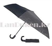Зонт складной полу автомат Lantana черный однотонный
