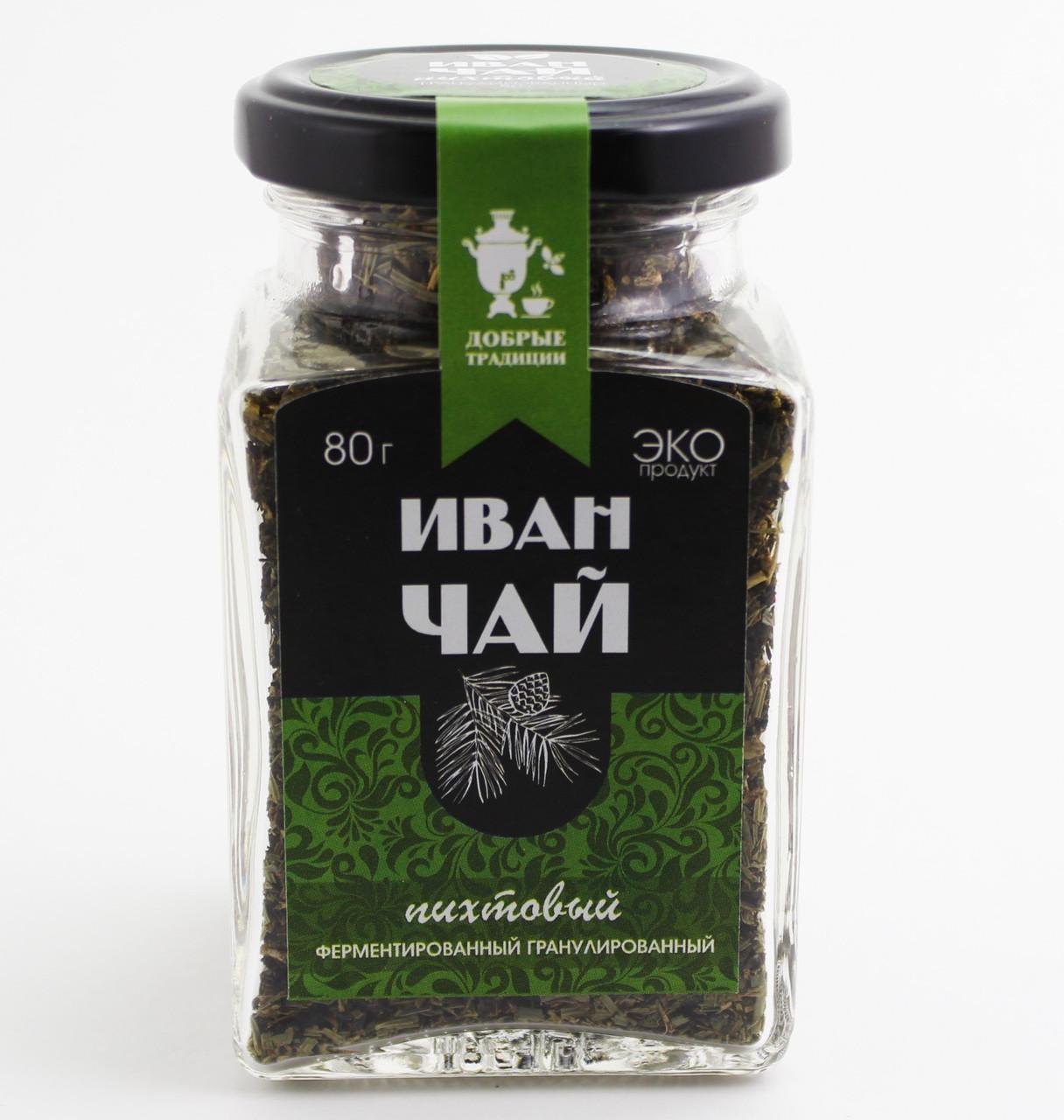 Иван чай  гран. с пихтой, банка, 80 г