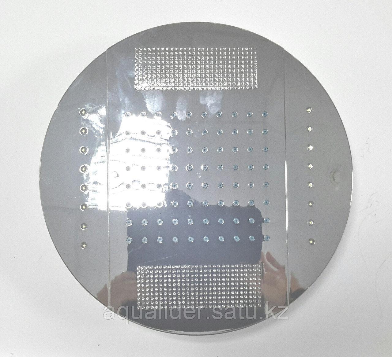 Комбинированный верхний душ с светодиодной подсветкой 250 мм.