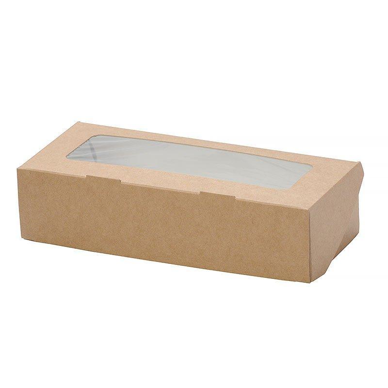 """Коробка """"DoEco"""" 200х120х40мм ECO TABOX 1000 gl, с окном, коричн., 300 шт"""